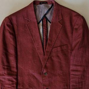 Joseph Abboud Cranberry Linen Blazer